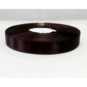 Атласная лента, цвет шоколадный, 10мм