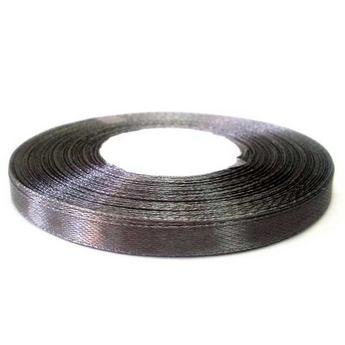 Атласная лента, темно-серый, 7мм
