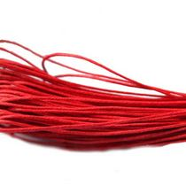 Вощеная нить красная, 1 мм