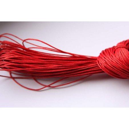 Вощена нитка, колір червоний, 1 мм, 5 м