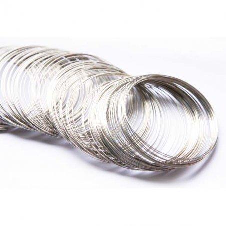 Основа для браслета витками d 5 см, колір срібло, 10 витків