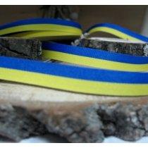 Декоративная лента двухцветная желто-голубая