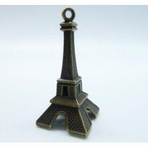 Бронзовая металлическая подвеска Эйфелева башня большая