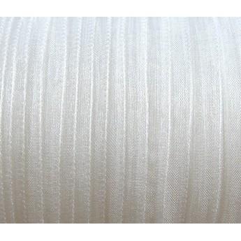 Органза, цвет белый №019, 7мм