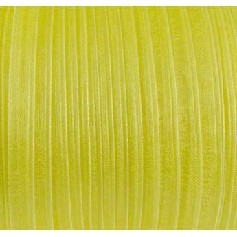 Органза, цвет желтый лимонный №07, 7мм