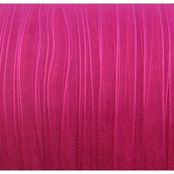 Органза, цвет розовый яркий, 7мм