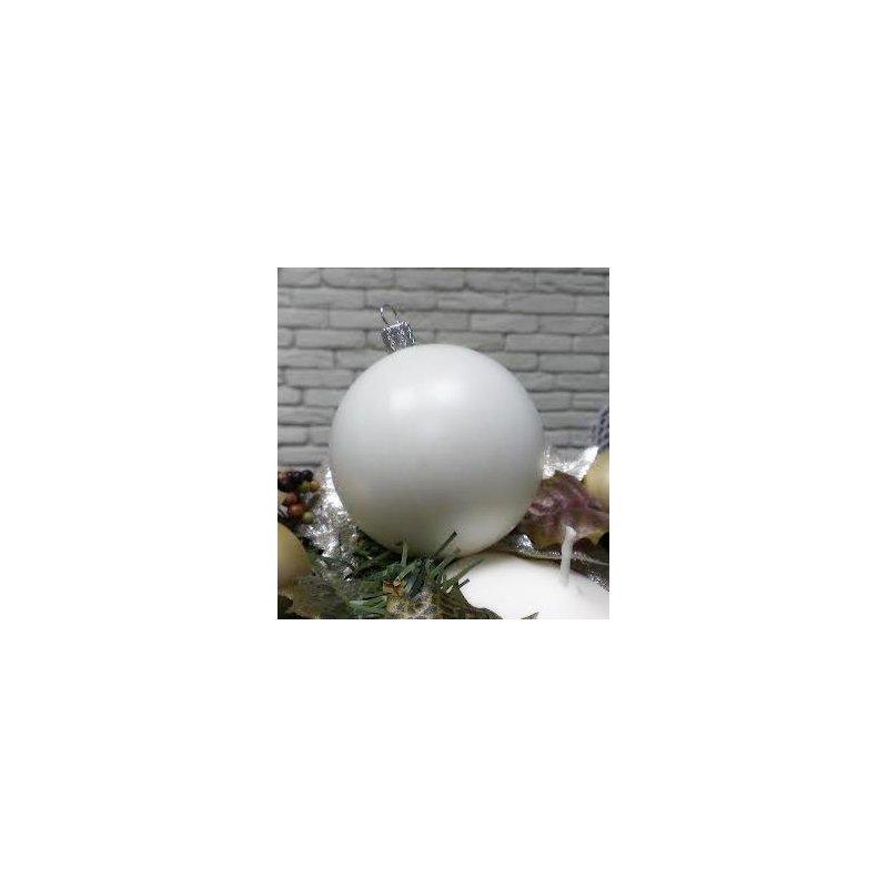 Пластиковая заготовка шар белый, 8 см