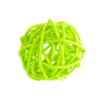Шарик из ротанга, цвет салатовый 3 см.
