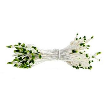 Цветочные тычинки белые с темно-зелеными концами №63.1