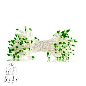 Цветочные тычинки белые с светло-зелеными концами №60.1