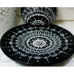 Декоративная тарелочка Мандала