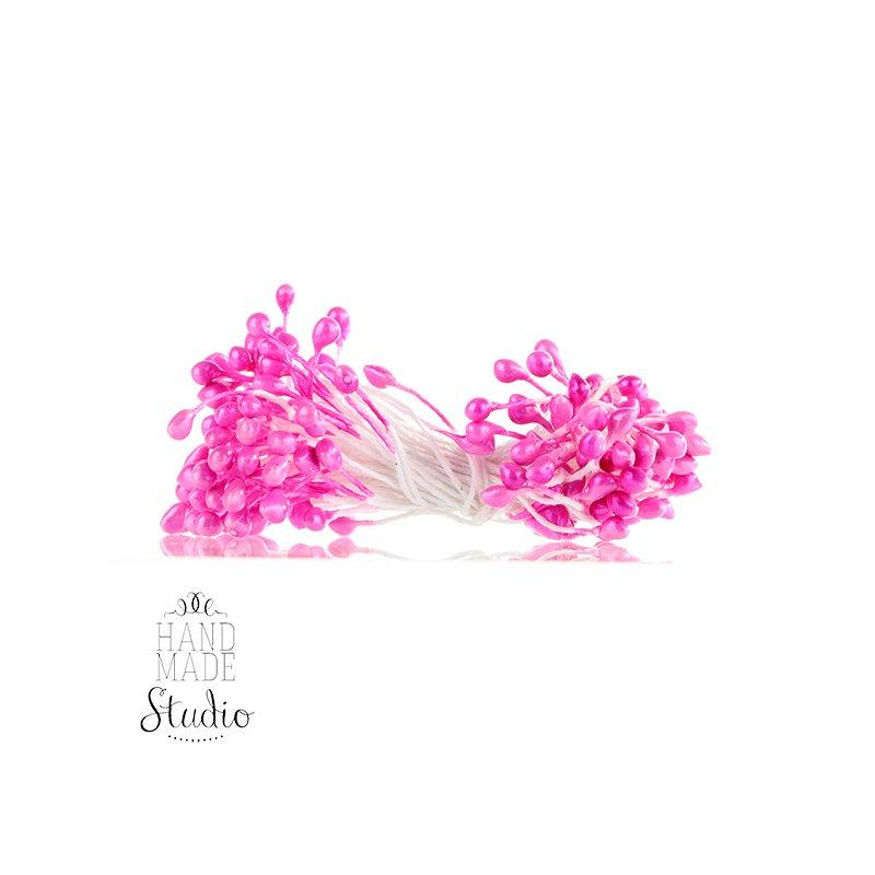 Цветочные тычинки розовые №68