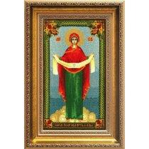 """Набор для вышивания крестом """"Образ Пресвятой Богородицы Покрова"""" А101"""