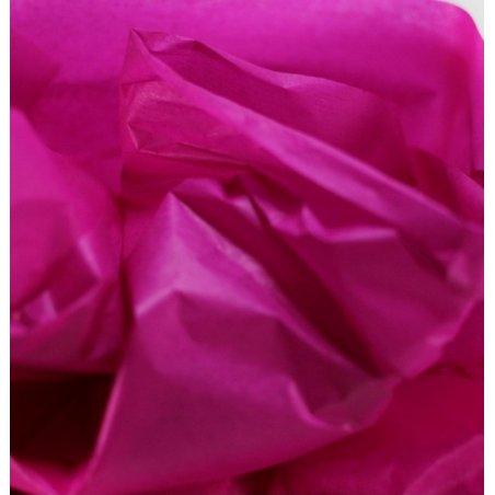 Бумага тишью, цвет - малиновый, 50х65 см, 10 листов