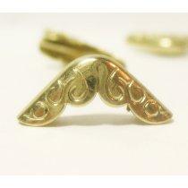 Уголок  металлический С-129, цвет золото 1,5х1,5 см