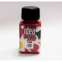 Краска для ткани Idea Stoffa  №166 Кармин , 60мл.