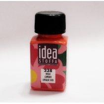 Покрывная краска для ткани Красный Idea Stoffa №238
