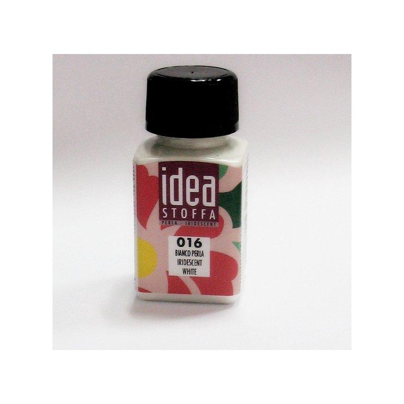 Перламутровая краска для ткани Белый Idea Stoffa №016