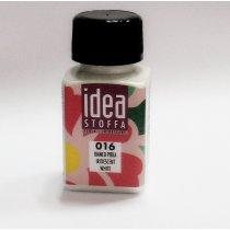 №016 Перламутровая краска для ткани Белый Idea Stoffa