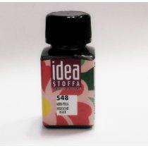 Перламутровая краска для ткани Черный Idea Stoffa №548