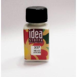 Металлическая краска для ткани Зеленый Idea Stoffa №327