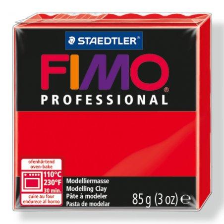 Полимерная глина Fimo Professional, 85 гр. №200, чисто-красный
