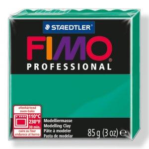 Полимерная глина Fimo Professional, 85 гр. №500, чисто-зеленый