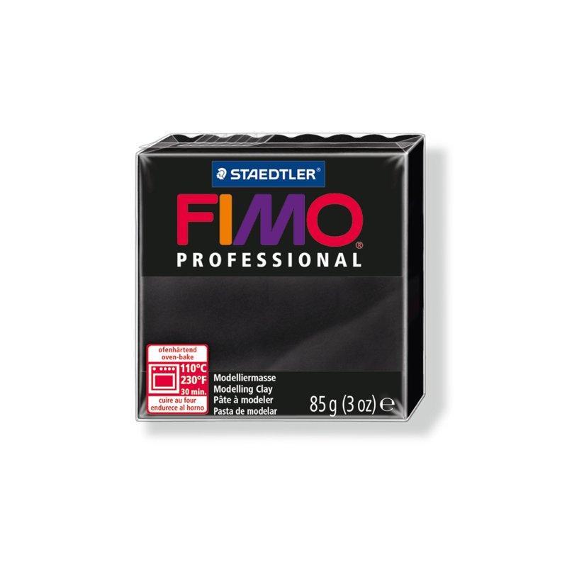 Полимерная глина Fimo Professional, 85 гр. №9, черный