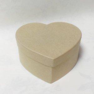 Картонная заготовка шкатулка сердце маленькая, размер - 95х85мм, высота - 4,5 см