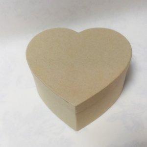Картонная заготовка шкатулка сердце средняя, размер - 15х13мм, высота - 7,5 см