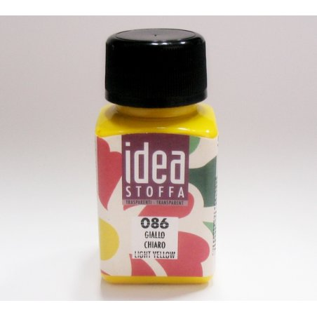 Прозрачная краска для ткани Желтый Idea Stoffa №086
