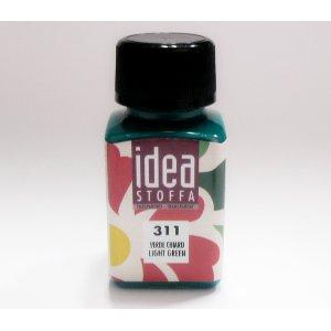 Прозрачная краска для ткани Зеленый светлый Idea Stoffa №311