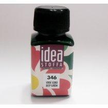 Покрывная краска для ткани Зеленый темный Idea Stoffa №346