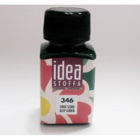 Прозрачная краска для ткани Зеленый темный Idea Stoffa №346