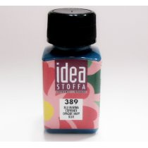 №389 Покрывная краска для ткани Синий морской Idea Stoffa