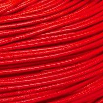 Кожаный шнур, цвет красный, толщина 2 мм
