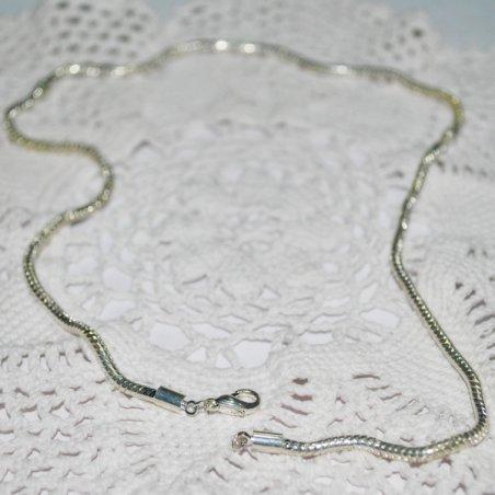 Основа для колье пандора металлическая, цвет серебро, 45 см