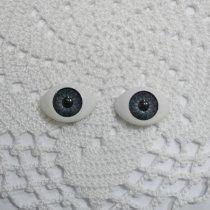 Глаза для кукол, цвет - серый, 8х12 мм