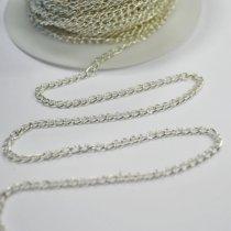 Цепь 2х3 мм, цвет - серебро