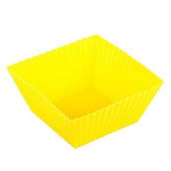 Силиконовая форма квадрат рифленый