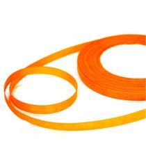 Репсовая лента 0,6 см, цвет - оранжевый