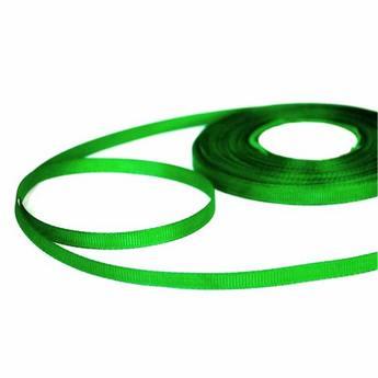 Репсовая лента 06 см, цвет - зеленый
