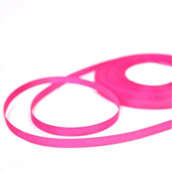 Репсовая лента 06 см, цвет - ярко-розовый