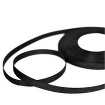 Репсовая лента 06 см, цвет - черный