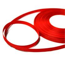 Репсовая лента 0,6 см, цвет - красный