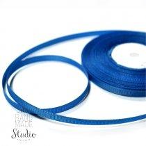 Репсовая лента 0,6 см, цвет - темно-голубой