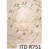 Рисовая карта для декупажа R751, 210х297 мм (А4)