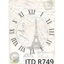 Рисовая карта для декупажа R749, 210х297 мм (А4)