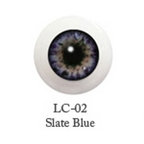 Акриловые глаза для кукол, цвет - грифельно-синий, 12 мм. Арт. G12LC-02