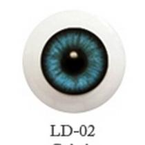 Акриловые глаза для кукол, цвет - бирюзовый, 6 мм. Арт. G6LD-02